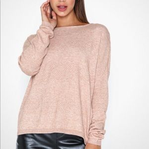 NWOT ONLY Our Story XS Pink Heathered Knit Sweater